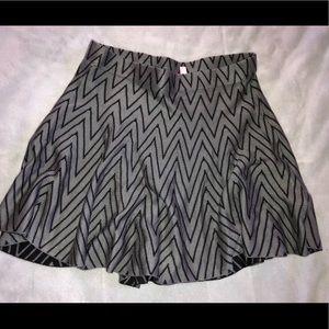 Black and grey skater skirt
